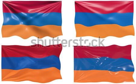 Bandeira Armênia imagem Foto stock © clearviewstock