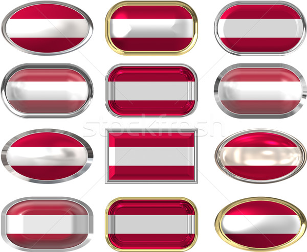 twelve buttons of the Flag of Austria Stock photo © clearviewstock
