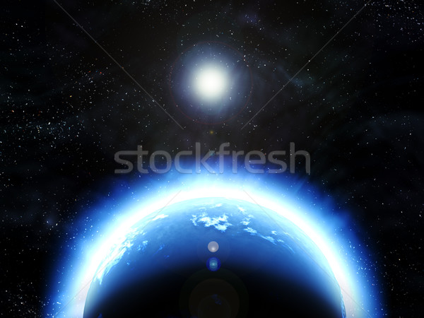 earth planet in space Stock photo © clearviewstock