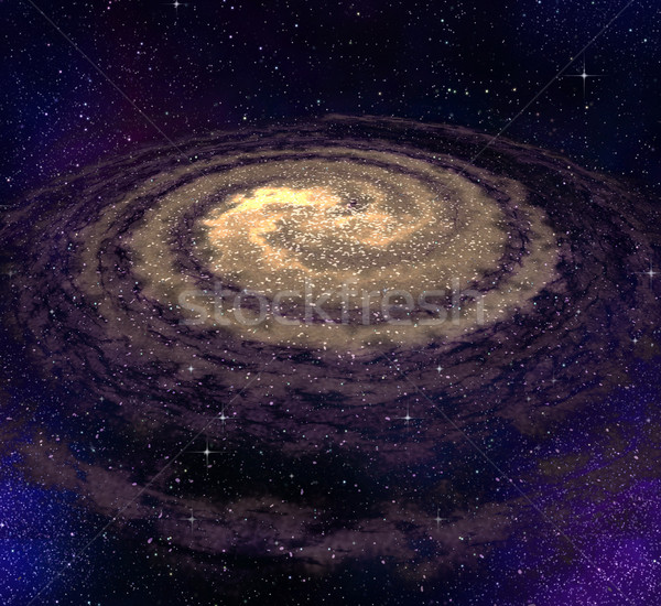 spiral vortex galaxy in space Stock photo © clearviewstock