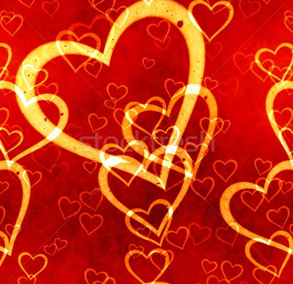 Czerwony żółty miłości serca szczęścia pasja Zdjęcia stock © clearviewstock