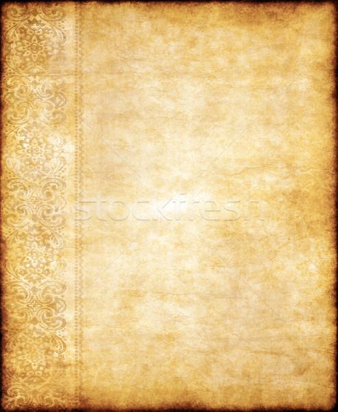 öreg citromsárga barna klasszikus pergamen papír textúra Stock fotó © clearviewstock