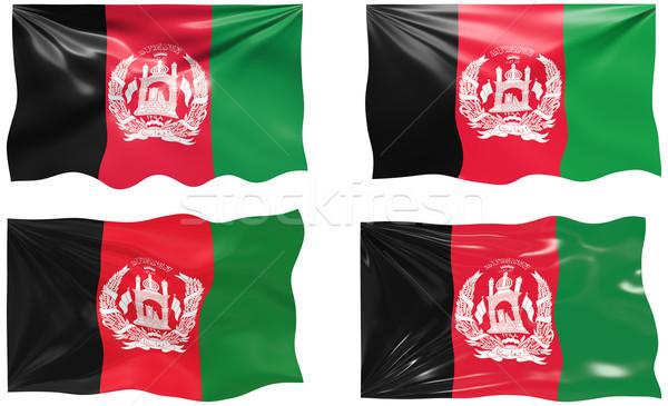 Zászló Afganisztán nagyszerű kép Stock fotó © clearviewstock
