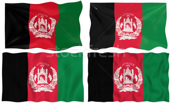 Vier Fahnen Afghanistan groß Bilder Flagge Stock foto © clearviewstock