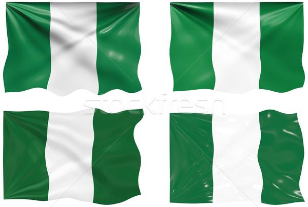 Bayrak Nijerya muhteşem görüntü Stok fotoğraf © clearviewstock