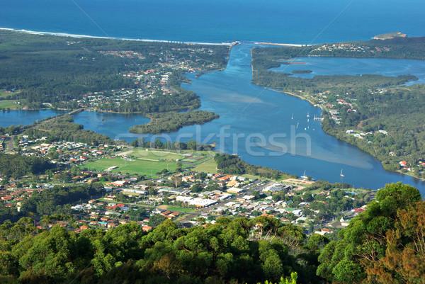 Mirando hacia abajo alto hasta casas ciudad norte Foto stock © clearviewstock