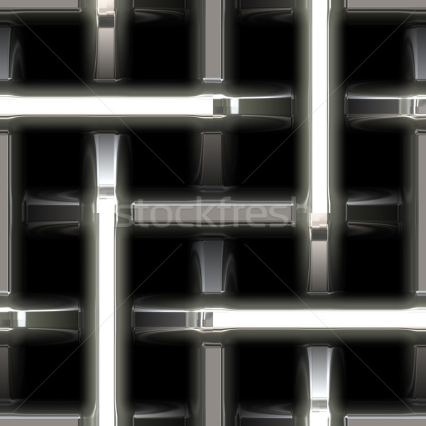 abstract metal steel weave Stock photo © clearviewstock