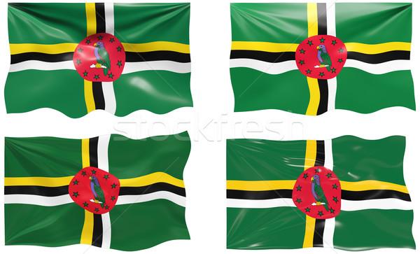 флаг Доминика изображение Сток-фото © clearviewstock