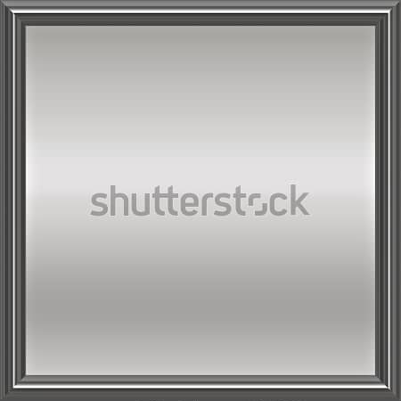 silver metal framed plaque Stock photo © clearviewstock