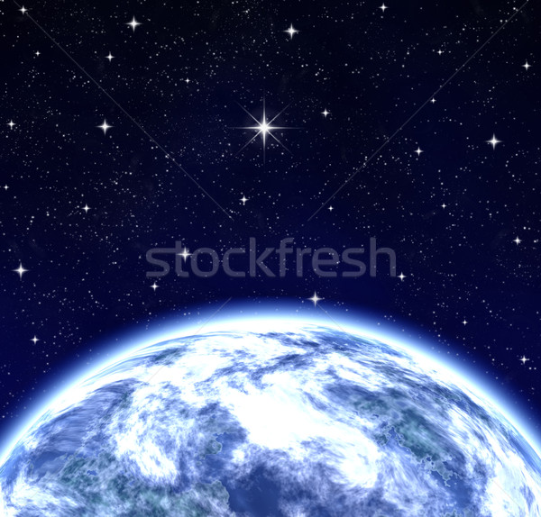 whole world wishing on star in space Stock photo © clearviewstock