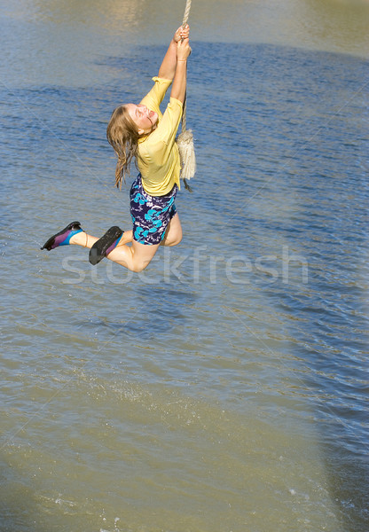 girl swinging Stock photo © clearviewstock