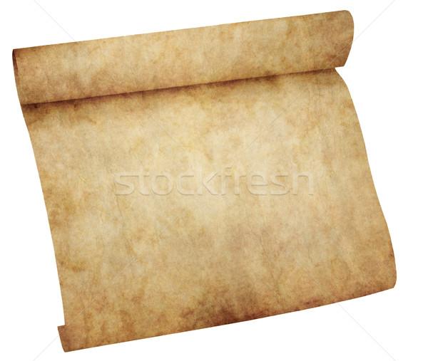 Pergamino desplazamiento papel aislado blanco vintage Foto stock © clearviewstock