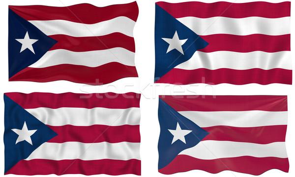 Vlag Puerto Rico groot afbeelding Stockfoto © clearviewstock
