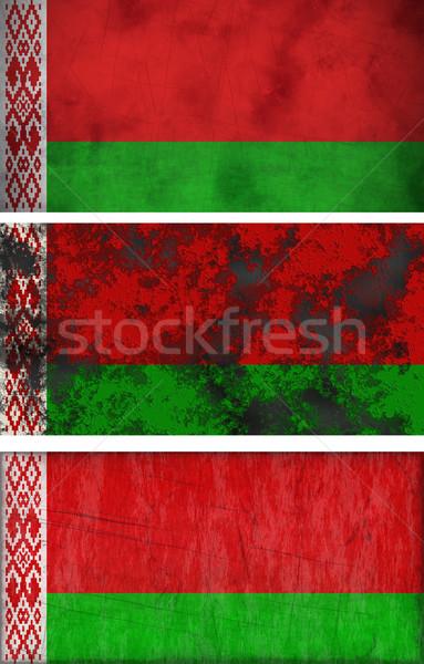 Bayrak Belarus muhteşem görüntü Stok fotoğraf © clearviewstock