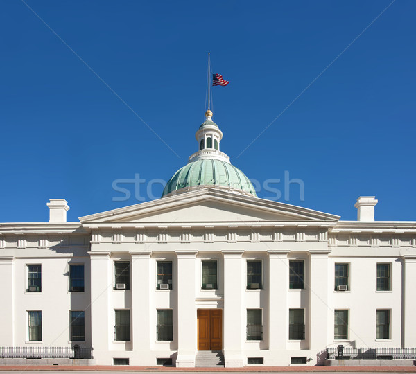 US flag at half mast on courthouse Stock photo © clearviewstock