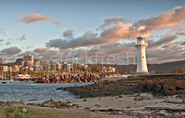 lighthouse sunrise at wollongong Stock photo © clearviewstock