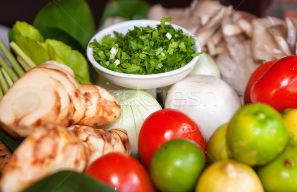 Fruits frais légumes herbes prêt cuisson alimentaire Photo stock © clearviewstock