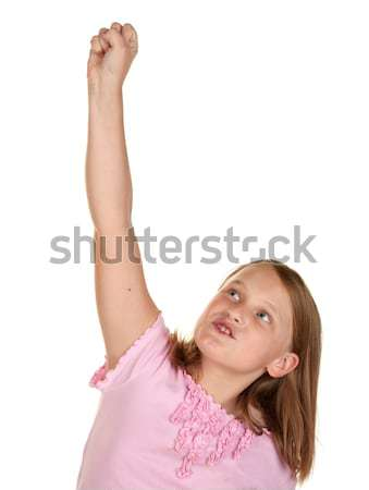 yes young girl punches the sky Stock photo © clearviewstock