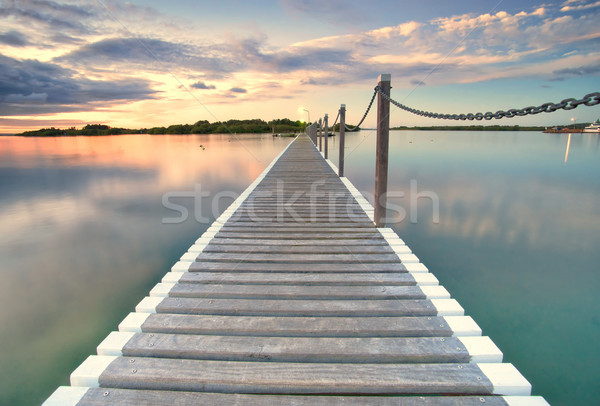 pontoon jetty across the water Stock photo © clearviewstock
