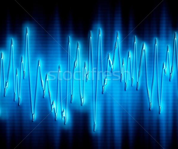 Extrém hanghullám nagyszerű kép fényes izzó Stock fotó © clearviewstock