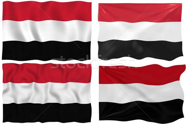 Vlag Jemen groot afbeelding Stockfoto © clearviewstock