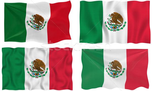 Stock fotó: Zászló · Mexikó · nagyszerű · kép