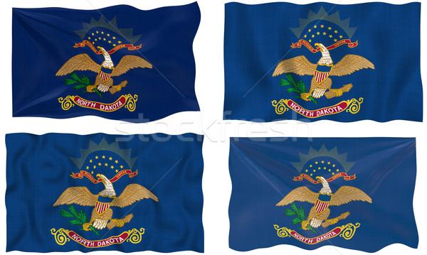 Vlag North Dakota groot afbeelding Stockfoto © clearviewstock