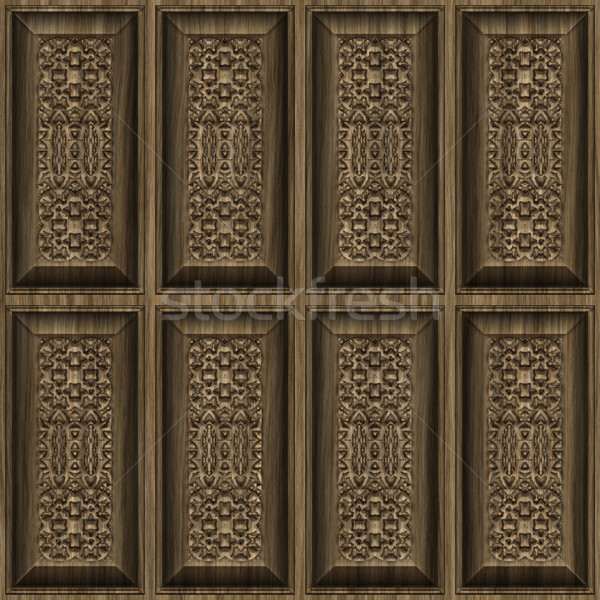 carved wood panels Stock photo © clearviewstock
