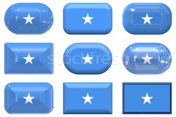 9 ガラス ボタン フラグ ソマリア ストックフォト © clearviewstock