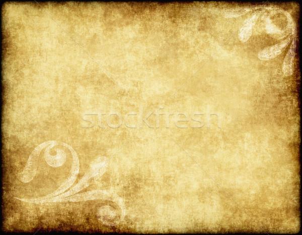 Papel velho pergaminho grande textura floral projeto Foto stock © clearviewstock