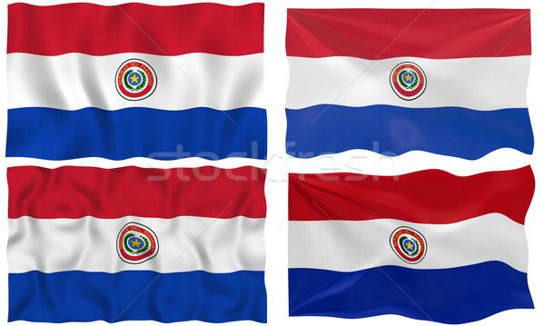 Zászló Paraguay nagyszerű kép Stock fotó © clearviewstock