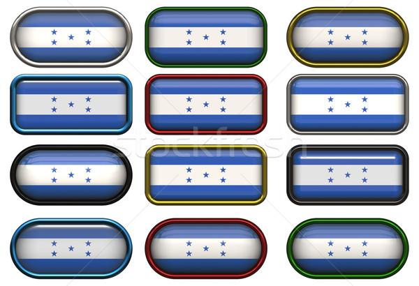 Dodici pulsanti bandiera Honduras Foto d'archivio © clearviewstock