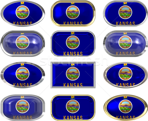twelve buttons of the Flag of Kansas Stock photo © clearviewstock