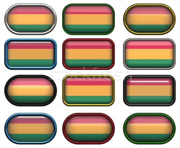 Foto stock: Doze · botões · bandeira · Bolívia