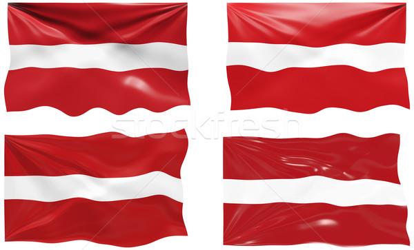 Vlag Letland groot afbeelding Stockfoto © clearviewstock
