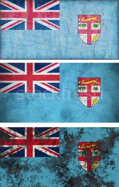 Bandiera Fiji immagine sfondo vintage Foto d'archivio © clearviewstock