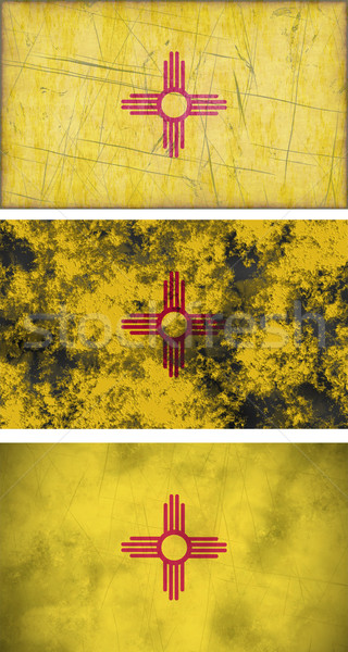 флаг Нью-Мексико изображение фон ткань Сток-фото © clearviewstock