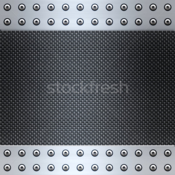 carbon fibre and steel background Stock photo © clearviewstock