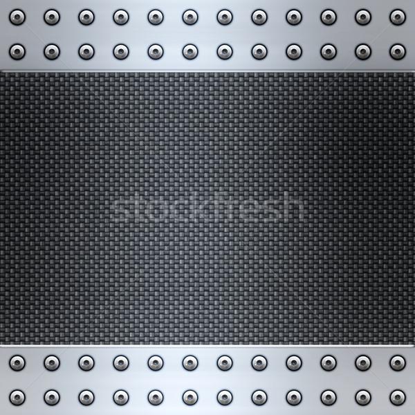 Karbon lif çelik görüntü Metal çerçeve Stok fotoğraf © clearviewstock
