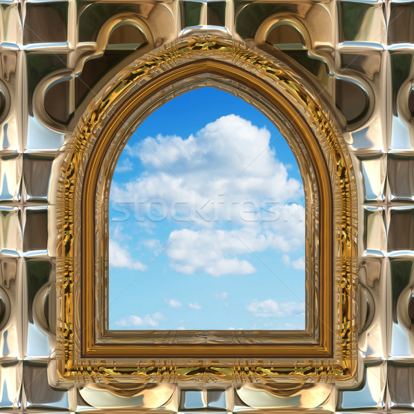 gothic or scifi window with blue sky Stock photo © clearviewstock