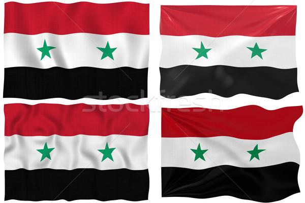 Vlag Syrië groot afbeelding Stockfoto © clearviewstock