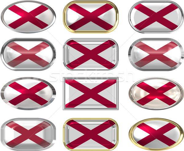 Oniki düğmeler bayrak Alabama Stok fotoğraf © clearviewstock