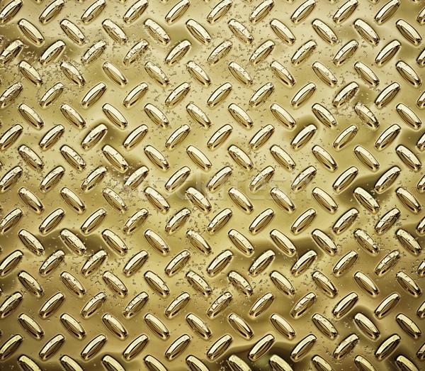 gold diamond plate Stock photo © clearviewstock