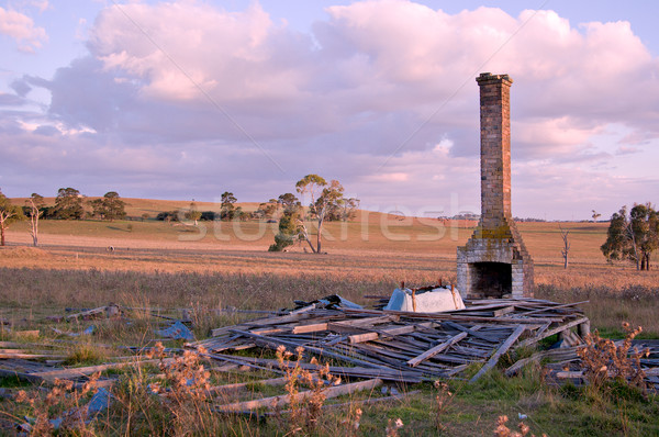 Old ruins of a farmhouse symbolising at the end of the day Stock photo © clearviewstock