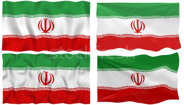 Zászló Irán nagyszerű kép Stock fotó © clearviewstock