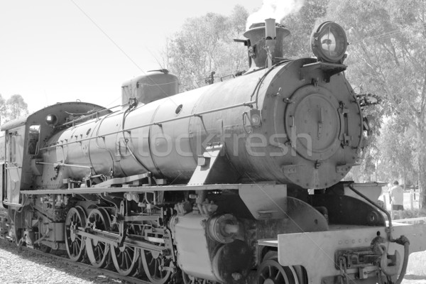 steam train in black and white Stock photo © clearviewstock