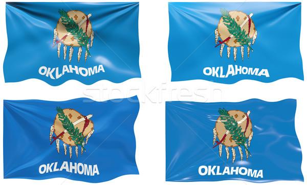 Vlag Oklahoma groot afbeelding Stockfoto © clearviewstock