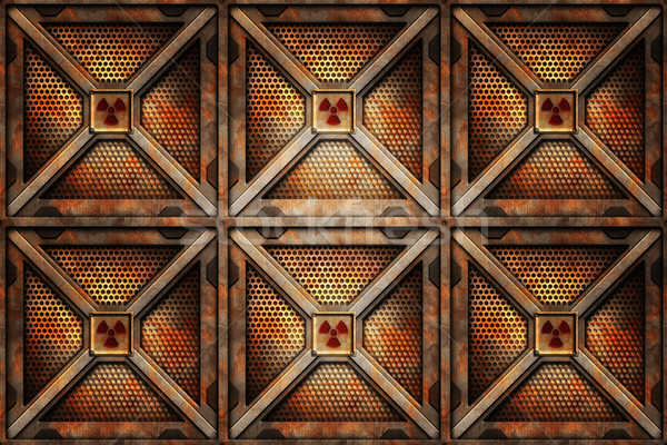 Radioativo armazenamento seis fundo ferrugem armazém Foto stock © clearviewstock
