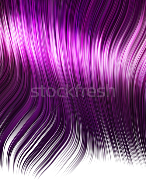 Viola anime capelli cartoon stile donna Foto d'archivio © clearviewstock