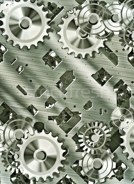 steampunk cogs and gears Stock photo © clearviewstock